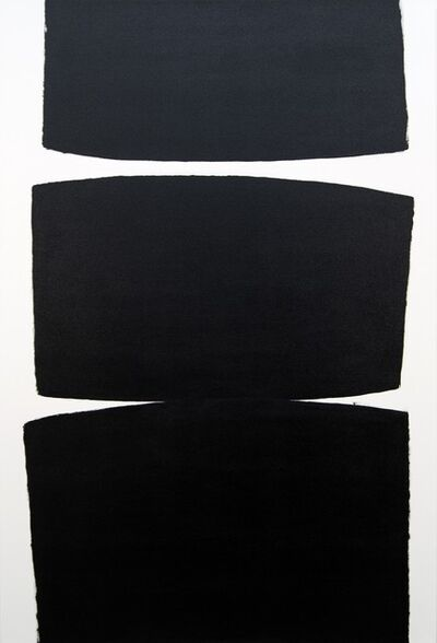 Tim Forbes, 'Exile - bold, emotional, black and white, abstract minimalist, acrylic on canvas', 2020