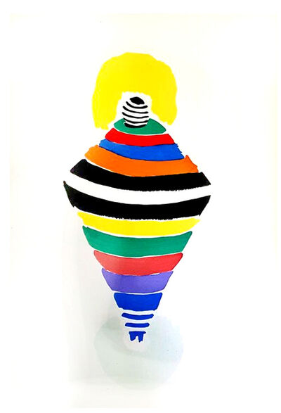 "Sonia Delaunay, 'Original Pochoir ""27 Living Paintings XXIII"" by Sonia Delaunay', 1969"