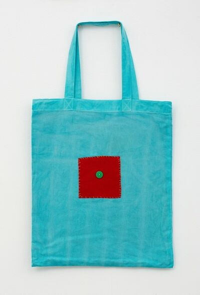Noel McKenna, 'Turquoise tote with red square', 2019
