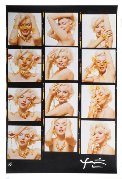 Bert Stern, 'Marilyn Monroe with jewels [Contact Sheet] from The Last Sitting for Vogue , 1962', 2009