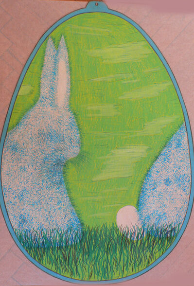 Alfred Klinkan, 'Easter Egg - Rabbit with Egg'