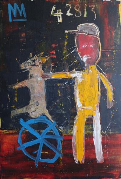 Michael Snodgrass, 'Red Faced Man Teaching Dog', 2018