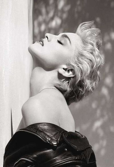 "Herb Ritts, '""Madonna (True Blue Profile)""', 1986"