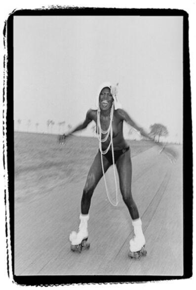 Bruce Laurence, 'Grace Jones at Compo Beach', 1974