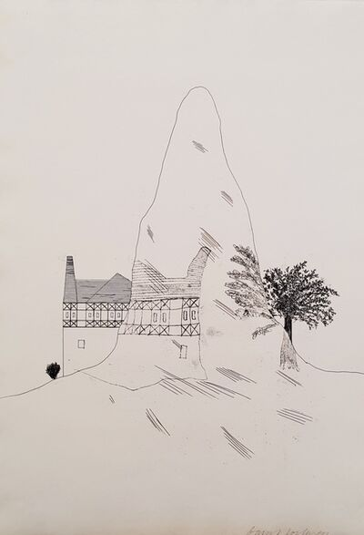 David Hockney, 'The Glass Mountain', 1969