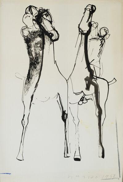 Marino Marini, 'Giocolieri e cavalli', 1947
