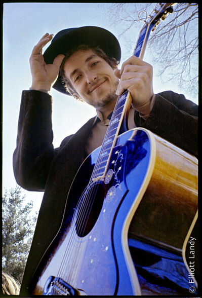 Elliott Landy, 'Bob Dylan at his Byrdcliffe Home.  Nashville Skyline Album', 1969