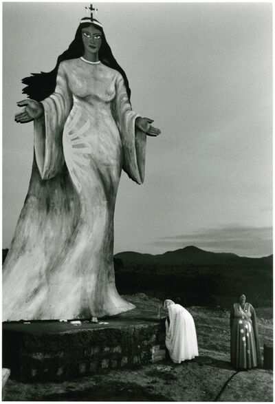 Sebastião Salgado, 'Two Women Making an Offering to a Statue of a Goddess, Brazil', 1980