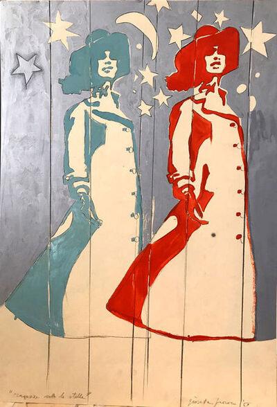 Giosetta Fioroni, 'Ragazze Soto Le Stelle', 1969
