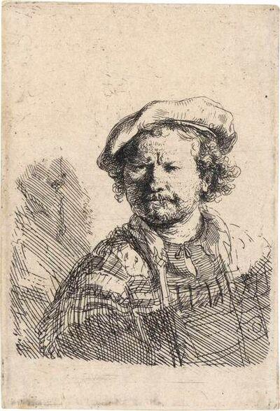 Rembrandt van Rijn, 'SELF PORTRAIT IN A FLAT CAP (B. 26)'