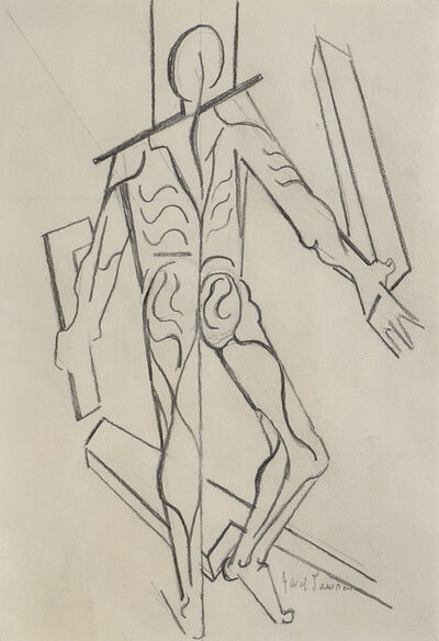 Jacob Lawrence, 'FIGURE STUDY AFTER VESALIUS (BACK WITH RIGHT ANGLE)', 1996