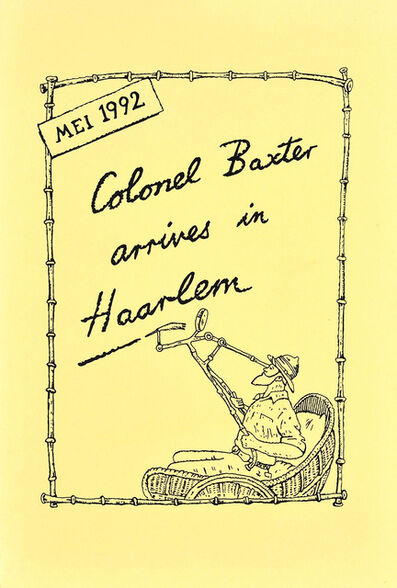 Glen Baxter, 'Colonel Baxter arrives in Haarlem', 1992