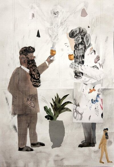 Guðmundur Thoroddsen, 'Professor and Friend Tasting Beer', 2014