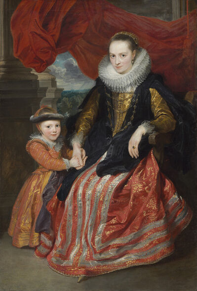 Anthony van Dyck, 'Susanna Fourment and Her Daughter', 1621