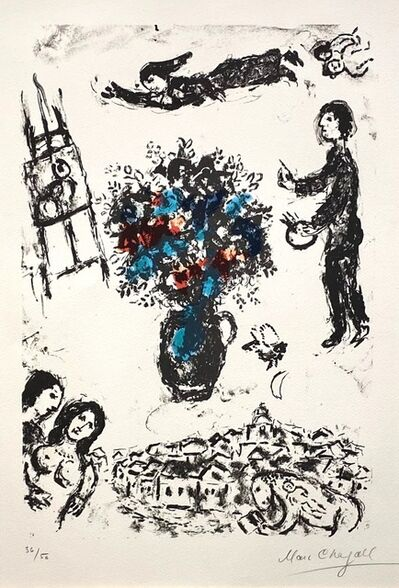 Marc Chagall, 'Bouquet Sur La Ville (M.1009).', 1983