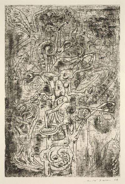 André Masson, 'Fruits of Abyss from Surrealist Portfolio VVV', 1942