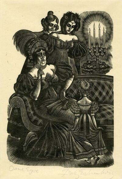 Fritz Eichenberg, 'Jane Eyre [Woman on couch]', 1943