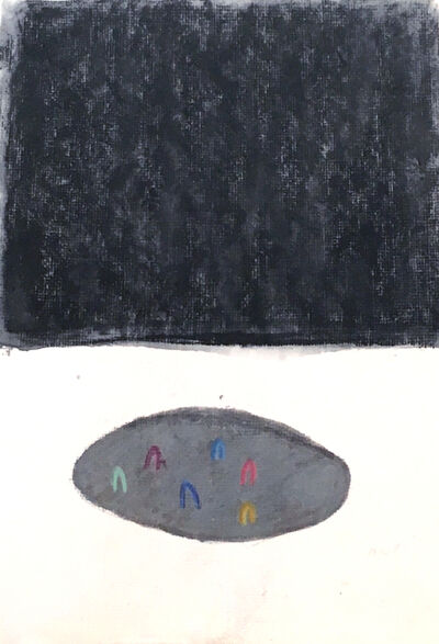 Hannah Luxton, 'The Puddle and the Plateau (study, black)', 2018