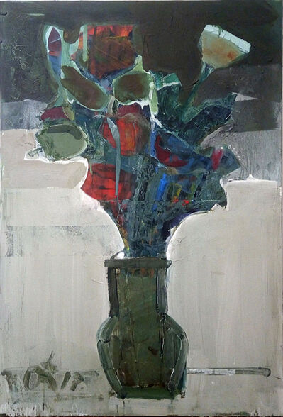 Serhiy Hai, 'Green Vase with Flowers', 2017