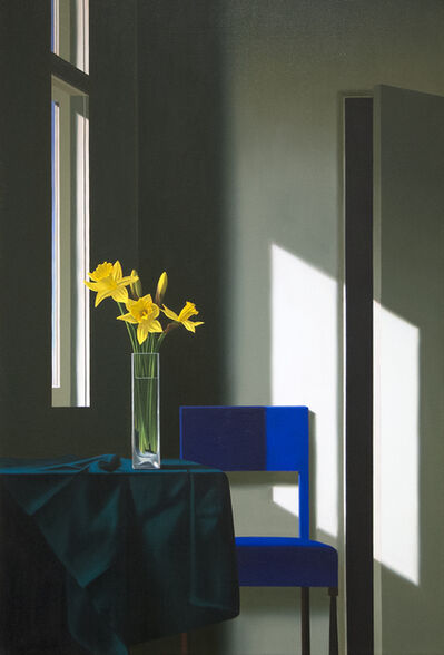 Bruce Cohen, 'Untitled, Interior with Daffodils and Blue Chair', 2018