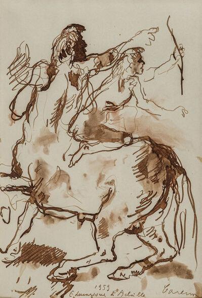 Felice Carena, 'Educazione di Achille', 1959