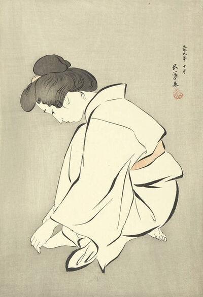 Goyo Hashiguchi, ' Woman Wearing a Tabi', 1920
