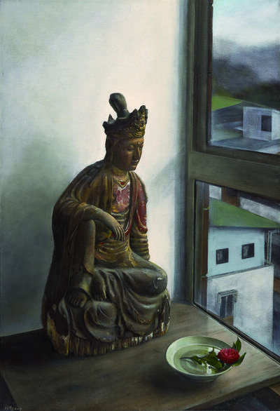 Xi Song, 'Buddha with a Camellia 菩薩與茶花 ', 2007