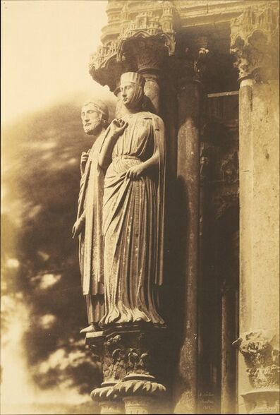 Jean-Louis-Henri Le Secq, '[Large Figures on the North Porch, Chartres Cathedral]', 1852