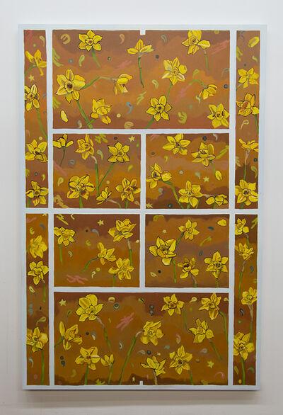 Alex Chaves, 'Daffodil Tennis Court', 2019