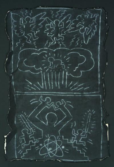 Keith Haring, 'Subway drawing'