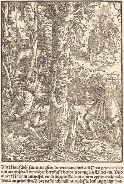 Master of the Miracles of Mariazell, 'Ain Man Schloss seinen nagsten ...', ca. 1503