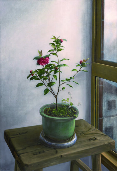 Xi Song, 'Camellia by a Rainy Window', 2009