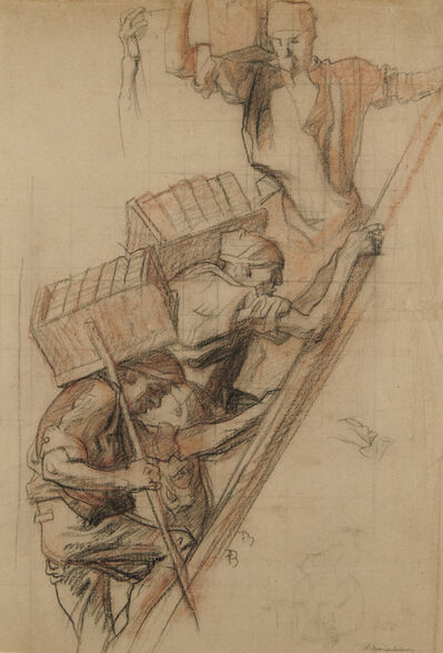 Sir Frank Brangwyn, 'Bricklayers', 1915