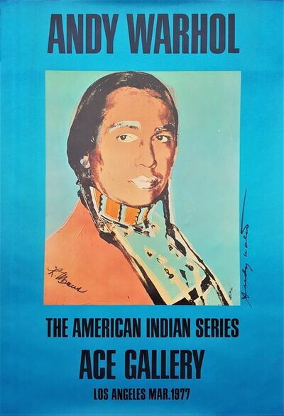 Andy Warhol, 'The American Indian Series: Ace Gallery (Double Signed)', 1977