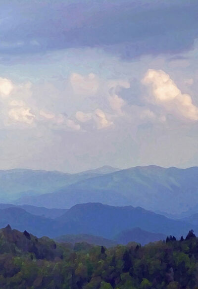 Larry Garmezy, 'A Great Smokies Afternoon - Impressionist landscape photography, Great Smokies Mountains, North Carolina, Modified Photography', 2016