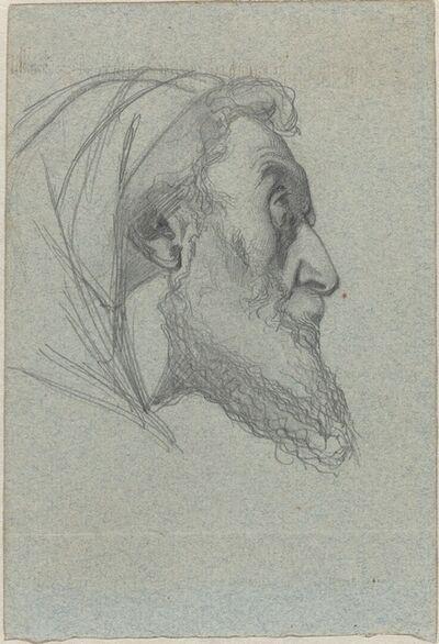 Alexandre Bida, 'Bearded Man in Profile (recto) / Woman Looking Up (verso)'