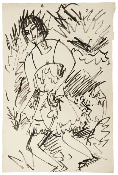 Ernst Ludwig Kirchner, 'Girl in the Bushes (Dancing Girl)', 1913