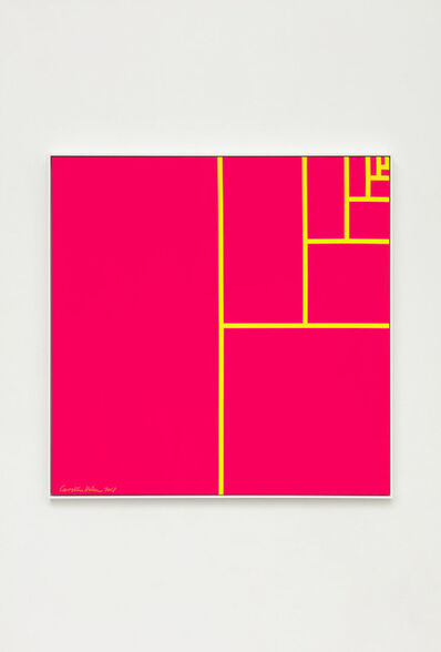 Carsten Höller, 'Division Square (Fluorescent Light Yellow Lines on Fluorescent Pink Background)', 2018