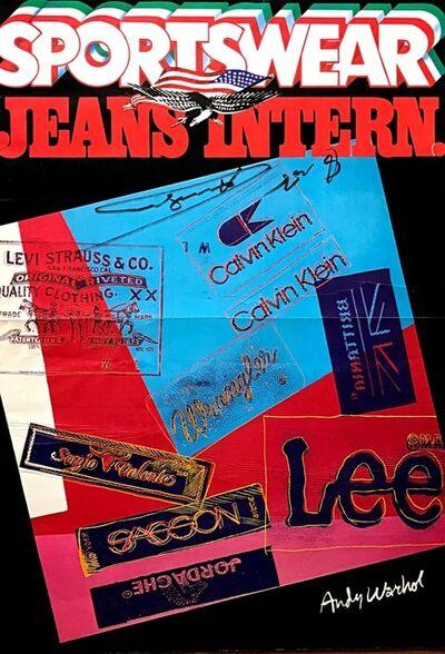 Andy Warhol, 'SPORTSWEAR JEANS INTERN. ', ca. 1984