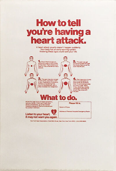 Andy Warhol, 'How to Tell You´re Having a Heart Attack', ca. 1984