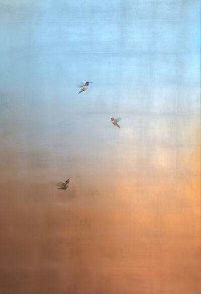 Carolyn Reynolds, 'Three Hummers in Aqua and Copper Skies', 2021