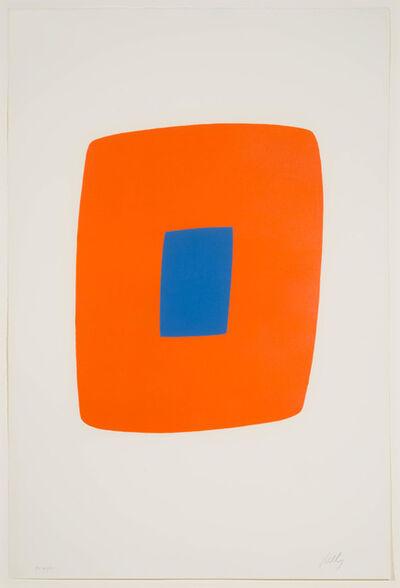 Ellsworth Kelly, 'Orange with Blue', 1964-1965
