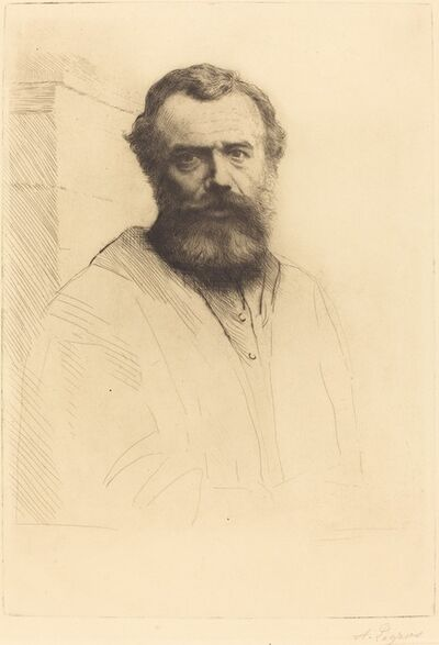 Alphonse Legros, 'Self-Portrait, 3rd plate', 1880