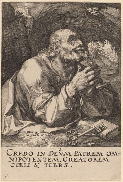 Hendrik Goltzius, 'Saint Peter', 1589