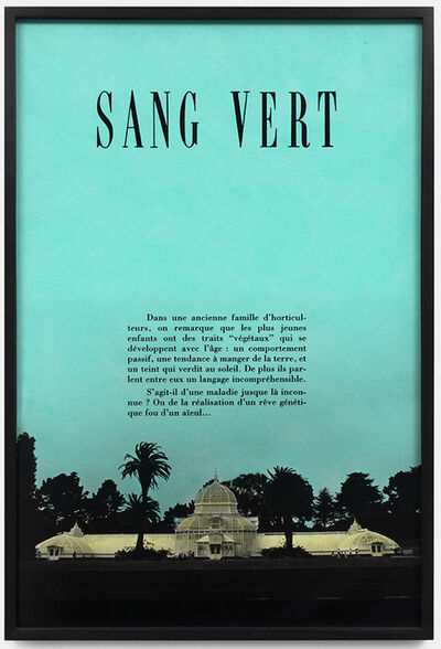 Martine Aballéa, 'Sang Vert', 1988-2021