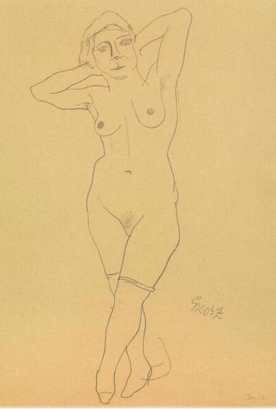 George Grosz, 'Nudo Femminile', 1922