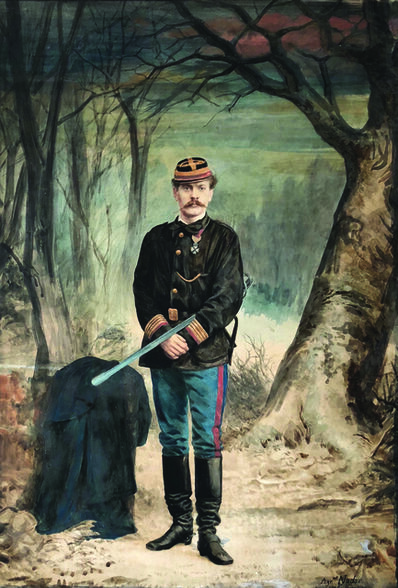 Nadar, 'Charles-Albert Costa de Beauregard in Military Uniform with Sword', 1871