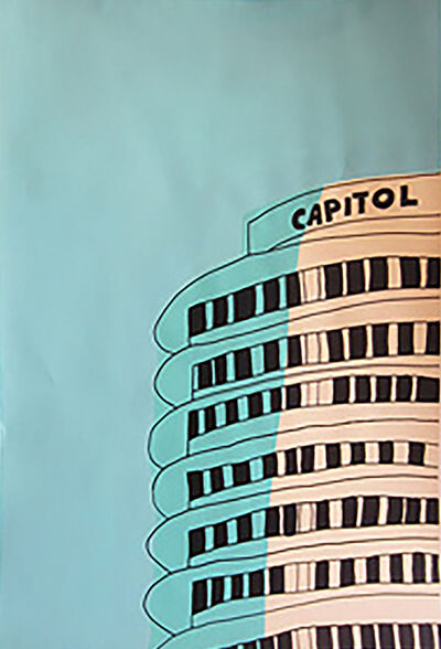 Marz Junior, 'Capital Records Building - Teal Right panel', 2015