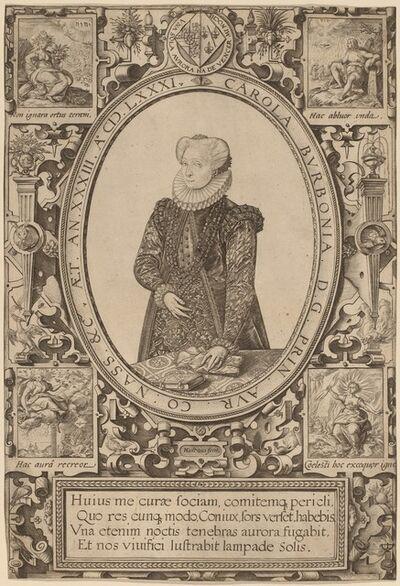 Hendrik Goltzius, 'Charlotte of Bourbon', 1581