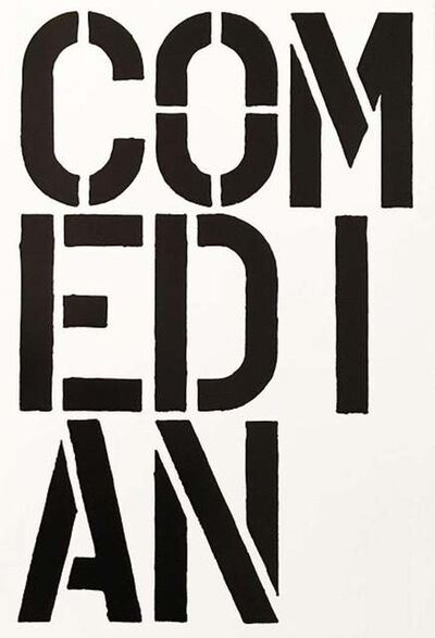 Christopher Wool, 'Comedian - page from the Black Book', 1989